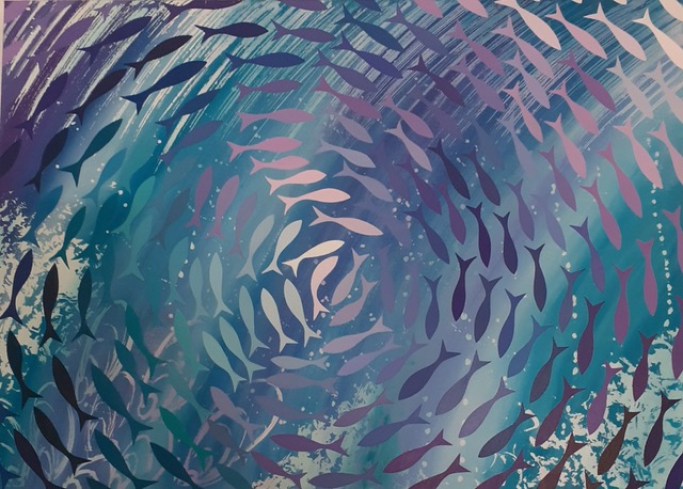 Fish Swirl - Turquoise to Purple