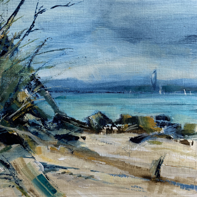 Soul Searching - View Across the Solent