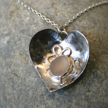 Heart of Glass Pendant and Chain