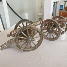 Silver plated Desk Cannons