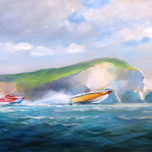 Power Boats Off the Needles